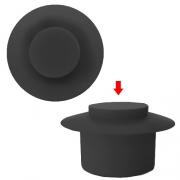 Bouton de pare choc 13mm Noir