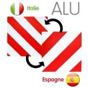 Panneau porte-vélos réversible Espagne/Italie