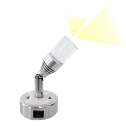 Spot 2 LED 12V 2x1W avec interrupteur