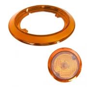 Enjoliveur Orange 123 mm pour feu arrière