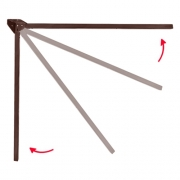 Pied de table repliable 71,5 cm Marron