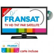 DÉSTOCKAGE TV HD DVD TELEFUNKEN 60cm Satellite intégré Fransat