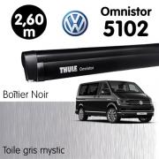 Store Thule Omnistor 5102 Noir 2m60 Gris Mystic + fixations T5/T6