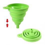 Entonnoir flexible silicone vert