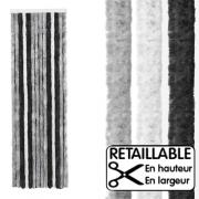 Rideau de porte Gris/Noir 56x205 cm