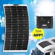 Panneau solaire Semi-Flex INOVTECH 130W + MPPT