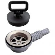 Bonde d\'évier INOX coudée perçage 50 mm tuyau 20 à 25 mm