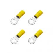 Cosses rondes 6 mm jaunes - Lot de 4