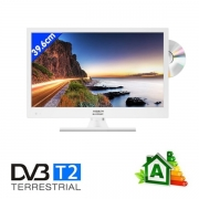 TV HD LED DVD T2 39.6 cm Antarion Blanche